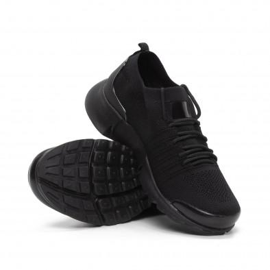 Леки мъжки маратонки тип чорап в черно it240419-23 4