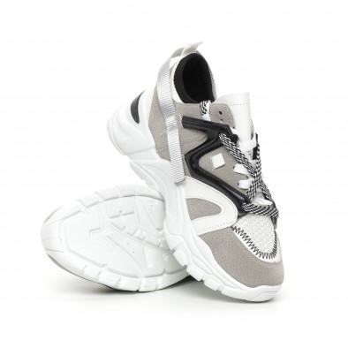 Дамски сиви маратонки Chunky дизайн it130819-80 4