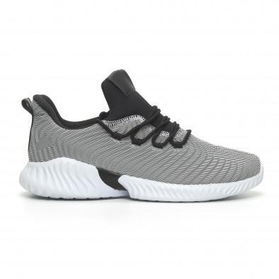 Мъжки ултралеки маратонки Wave дизайн черно и бяло it100519-5 2