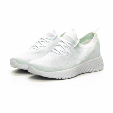Ултралеки дамски бели маратонки тип чорап it240419-53 3
