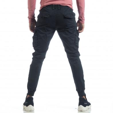 Мъжки Cargo Jogger панталон в тъмно синьо it040219-30 4