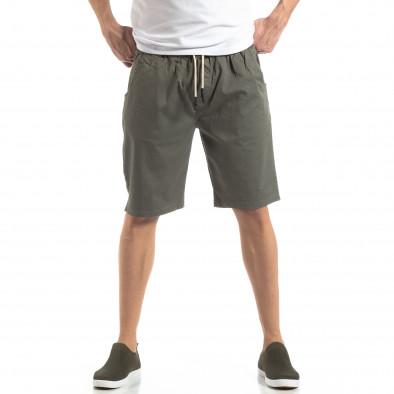 Basic мъжки къси панталони в зелено it210319-36 2