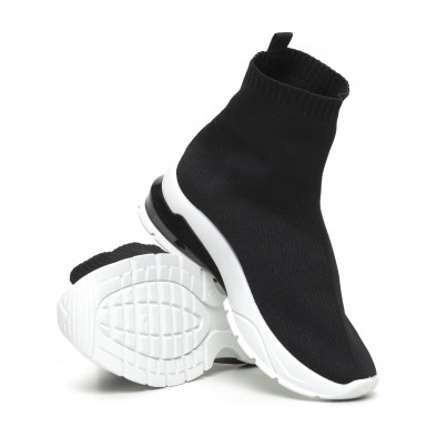 Черни дамски маратонки тип чорап it260919-53 4