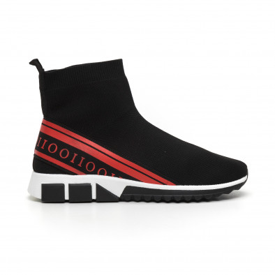 Мъжки маратонки тип чорап червен кант it260919-12 3