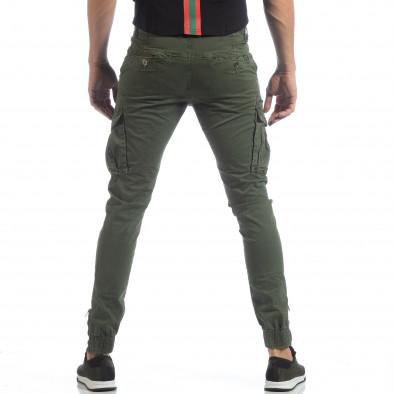 Зелен карго панталон с ципове на крачолите it040219-35 4