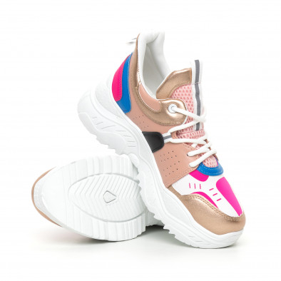 Chunky дамски маратонки в розово и синьо it130819-65 4