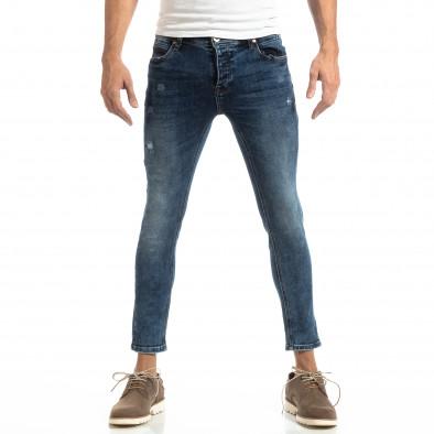 Slim fit мъжки дънки в синьо it261018-15 2