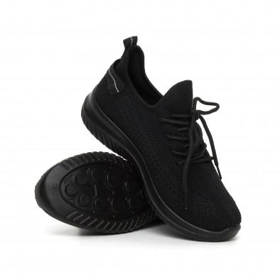 Черни плетени мъжки маратонки it130819-27 4