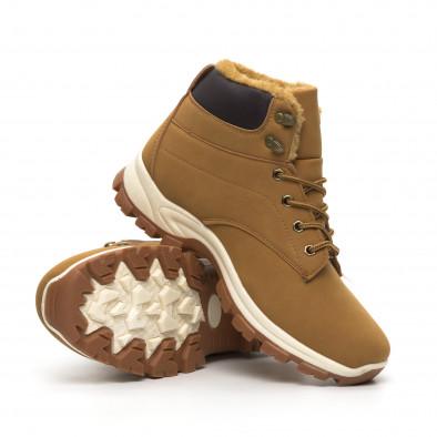 Мъжки трекинг обувки в цвят камел it260919-29 5