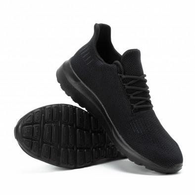Мъжки леки маратонки All black с декорация it140918-16 5