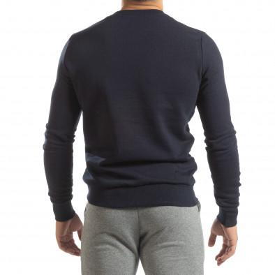 Basic мъжка памучна блуза в тъмно синьо it150419-47 4