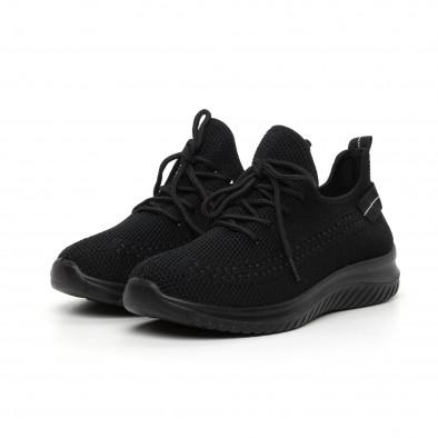 Черни плетени мъжки маратонки it130819-27 2