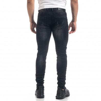 Черни мъжки Slim fit дънки с прокъсвания it071119-10 3