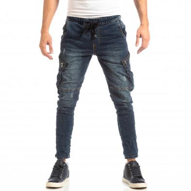 Мъжки сини дънки Cargo Carrot it261018-16 3