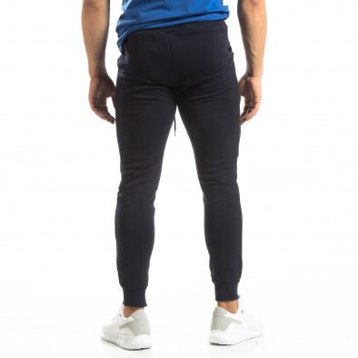 Basic мъжко памучно долнище в тъмно синьо it150419-35 4