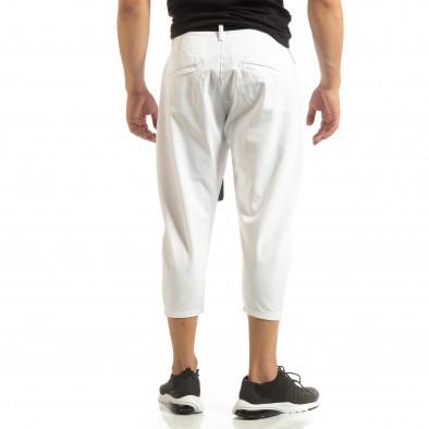 Cropped мъжки бял панталон брич стил it090519-5 3