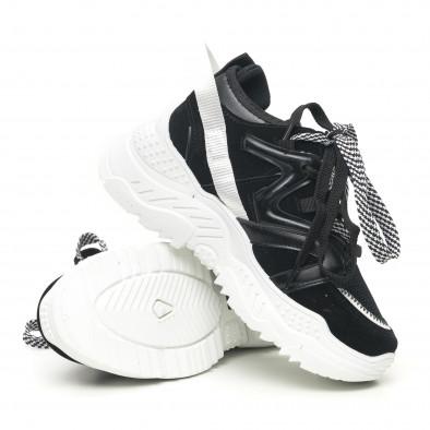 Дамски черни маратонки Chunky дизайн it281019-8 5