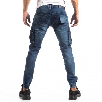 Рокерски Cargo Jogger дънки в синьо it250918-25 4