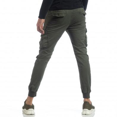 Мъжки Cargo Jogger панталон в милитъри зелено it040219-28 4