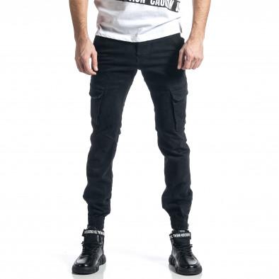 Черен панталон Cargo Jogger с ципове на крачолите it010221-43 2