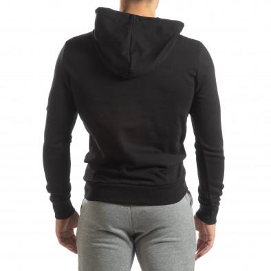 Basic мъжки суичър тип анорак в черно it150419-44 4