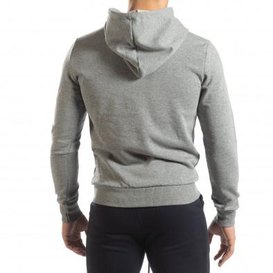 Basic мъжки суичър тип анорак в сиво it150419-41 4