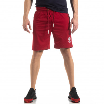 Мъжки спортни шорти в тъмно червено it210319-71 3