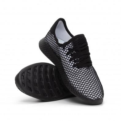 Ултралеки мъжки маратонки Mesh в черно и бяло it240419-5 4