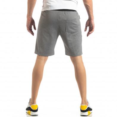 Мъжки шорти в сиво с черен акцент it210319-67 3