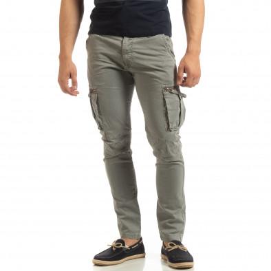 Сив мъжки карго панталон с прави крачоли it090519-14 3