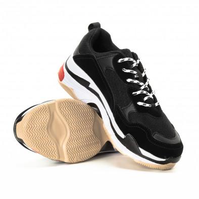 Мъжки маратонки в червено и черно с дебела подметка it221018-41 4