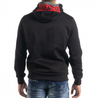 Мъжки суичър hoodie с червен акцент it041019-51 3