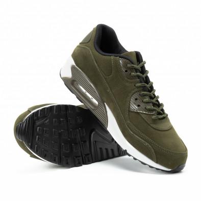 Велурени мъжки Air маратонки в зелено it140918-29 4