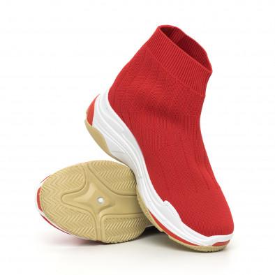 Дамски плетени Slip-on маратонки в червено it130819-46 5