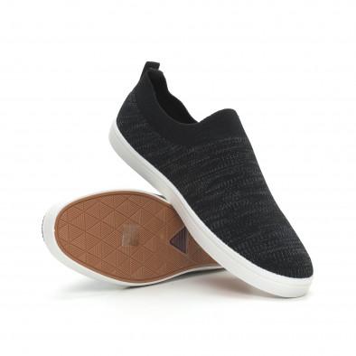Мъжки гуменки тип чорап черен меланж it150319-15 4