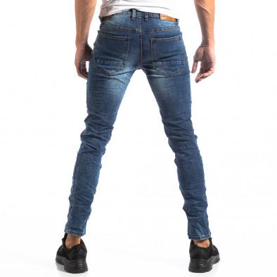 Мъжки сини Slim Jeans с ефектни кръпки it250918-15 4