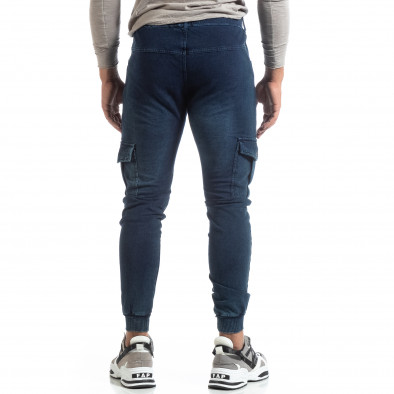 Мъжко синьо долнище тип Cargo Jeans it170819-29 4