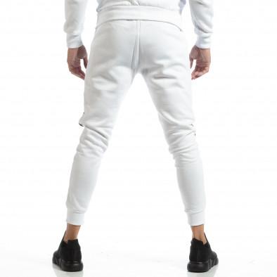 Мъжки Jogger в бяло с черни зони it261018-61 4