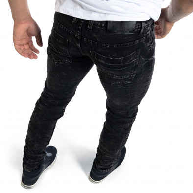 Washed мъжки черни дънки Slim fit it041019-34 4