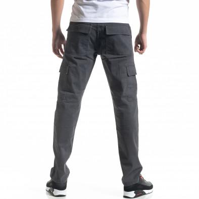 Мъжки карго панталон в сиво Regular fit it091219-9 4