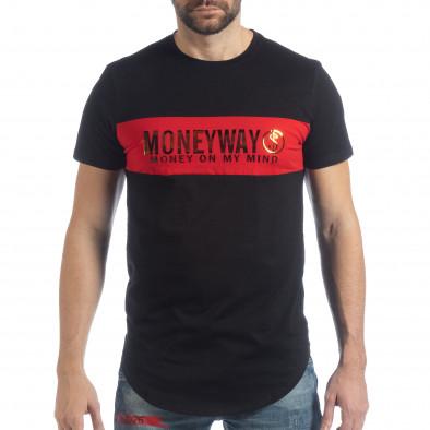 Мъжка черна тениска Money Way it040219-117 3