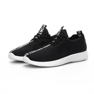 Мъжки текстилни спортни обувки в черно it240419-2 3