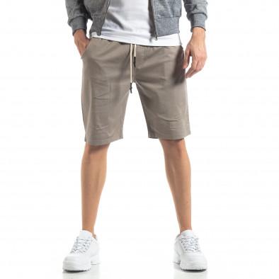 Basic мъжки къси панталони в сиво it210319-37 2
