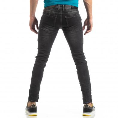Мъжки Washed Slim Jeans в сиво it210319-7 4