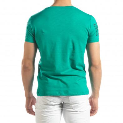 Зелена мъжка тениска принт Watch it150419-100 3