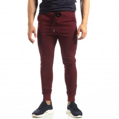 Basic мъжко памучно долнище в тъмно червено it150419-34 3