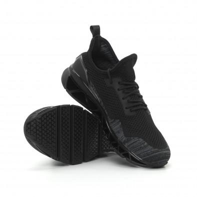 Леки мъжки маратонки Knife в черно и сиво it150319-26 4