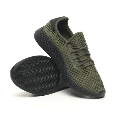 Зелени мъжки маратонки Mesh черна пета it251019-1 5
