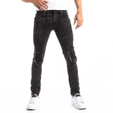Рокерски сиви мъжки дънки Slim fit it250918-19 4
