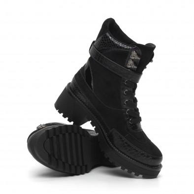 Дамски черни боти Snake в черно it260919-83 4
